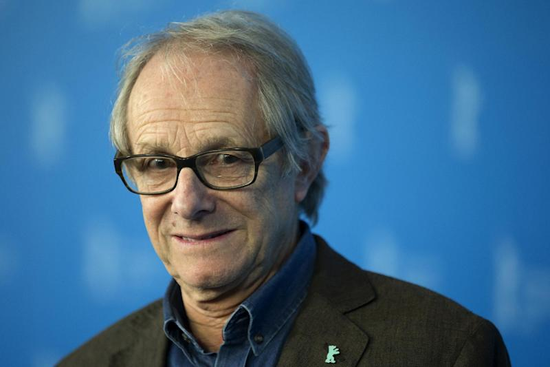 Director Ken Loach poses for photographers at a photo call prior to being awarded an honorary Golden Bear, during the International Film Festival Berlinale in Berlin, Thursday, Feb. 13, 2014. (AP Photo/Axel Schmidt)