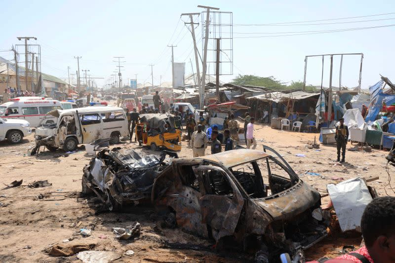 Death toll in Mogadishu bombing rises to at least 90: international organisation