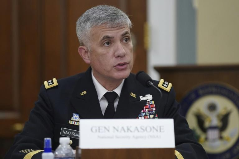 Paul Nakasone, director of the National Security Agency (NSA) and commander of the US Cyber Command, speaks at a 2021 House Intelligence Committee hearing