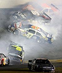 A 19-car wreck on Lap 148 took out more than half the field running at the time