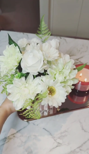 The professional-looking arrangement is ready for display. Photo: Instagram/carolina.mccauley.