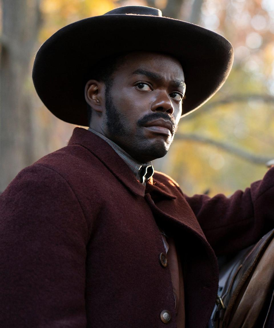 """<h2>William Jackson Harper plays Royal<br></h2><br>Royal helps Cora escape from Ridgeway while the latter is passing through his family farm in Tennessee. Born as a free man, Royal dedicates his life to the Underground Railroad mission and helping enslaved men and women escape to better lives. He develops a fondness for Cora during their time on the Valentine farm in Indiana.<br><br>Harper first rose to prominence as Chidi Anagonye on <em><a href=""""https://www.refinery29.com/en-us/2019/06/234895/the-good-place-ending-season-4"""" rel=""""nofollow noopener"""" target=""""_blank"""" data-ylk=""""slk:The Good Place"""" class=""""link rapid-noclick-resp"""">The Good Place</a></em> from 2016 to 2020. Since then, he's starred in the films <em>Midsommar</em> and <em>Dark Waters</em> and will star in the <a href=""""https://www.refinery29.com/en-us/2020/11/10150955/william-jackson-harper-hbo-max-love-life-season-2"""" rel=""""nofollow noopener"""" target=""""_blank"""" data-ylk=""""slk:second season of"""" class=""""link rapid-noclick-resp"""">second season of </a><em><a href=""""https://www.refinery29.com/en-us/2020/11/10150955/william-jackson-harper-hbo-max-love-life-season-2"""" rel=""""nofollow noopener"""" target=""""_blank"""" data-ylk=""""slk:Love Life"""" class=""""link rapid-noclick-resp"""">Love Life</a></em>.<span class=""""copyright"""">Photo: Courtesy of Amazon Studios.</span>"""