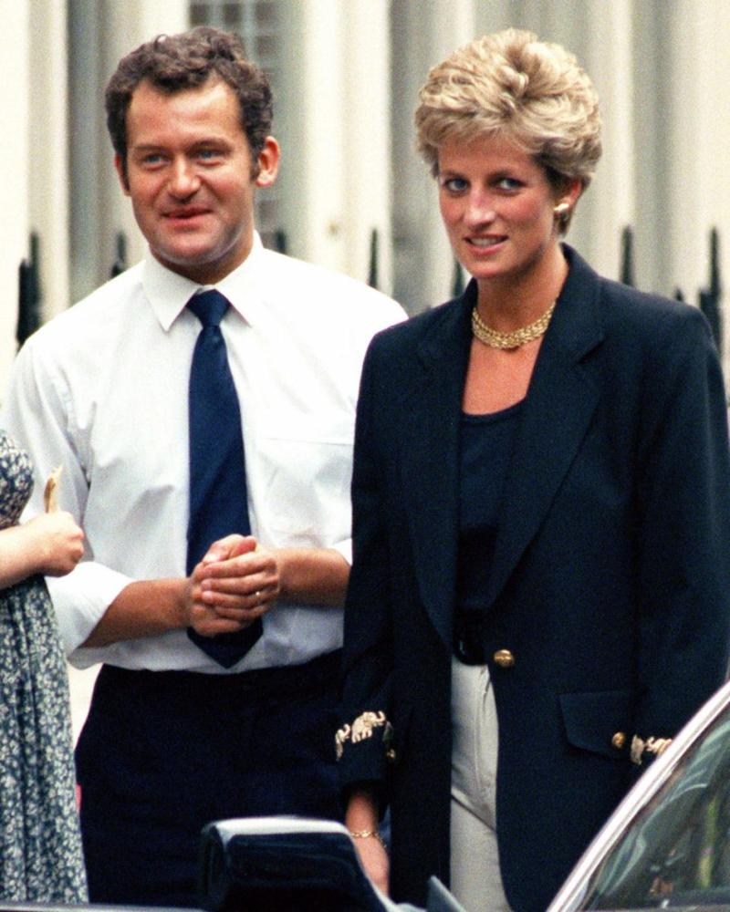 Paul Burrell and Princess Diana are pictured here in London together in 1994. The princess' former butler has opened up on I'm A Celeb about the last words she said to him. Source: Getty