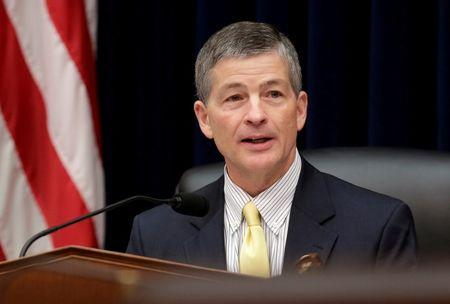 FILE PHOTO: Chairman of the House Financial Services Committee Hensarling (R-TX) leads hearing in Washington.