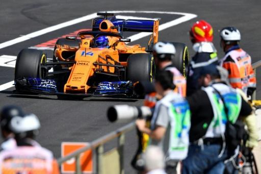 McLaren's Fernando Alonso was again behind the pace-setters in the opening practice sessions ahead of the French Grand Prix