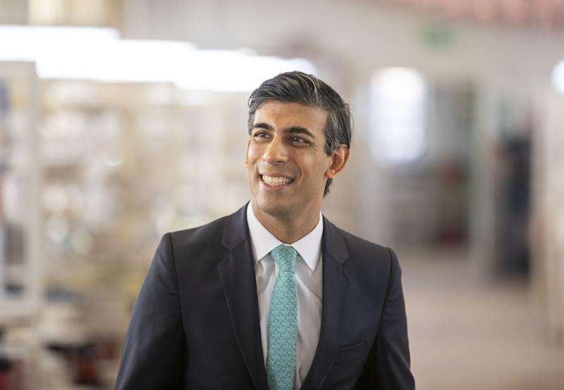 EMBARGOED TO 1800 TUESDAY SEPTEMBER 15 Chancellor Rishi Sunak during a visit to the Emma Bridgewater pottery in Stoke-on-Trent, Staffordshire. Employees at the factory are now back at work after being furloughed due to the coronavirus outbreak.