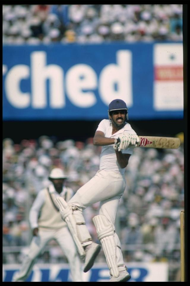 Dec 1983:  Kapil Dev bats for India during the 5th Test between India and England at Calcutta.                                           Mandatory Credit: Adrian Murrell/Allsport UK