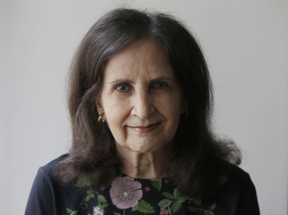 Associated Press national writer Sharon Cohen poses for photo in Chicago on July 26, 2017. Cohen, a matchless reporter who told American stories with great skill and compassion over more than four decades at The AP, died Monday, April 5, 2021, at her Chicago home. She was 68. (AP Photo/Kiichiro Sato)