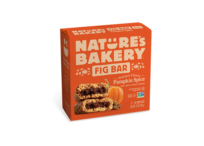 """<p>naturesbakery.com</p><p><strong>$6.00</strong></p><p><a href=""""https://www.naturesbakery.com/whole-wheat-fig-bars-pumpkin-spice"""" rel=""""nofollow noopener"""" target=""""_blank"""" data-ylk=""""slk:Shop Now"""" class=""""link rapid-noclick-resp"""">Shop Now</a></p><p>The familiar flavor of the fig bars of your childhood but with a modern fall twist. These limited-edition fig bars are made with real pumpkin puree, nutmeg, ginger, and cinnamon and are totally vegan and dairy-free if you have any diet restrictions but still want to live your best PSL life.</p>"""