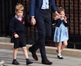 <p>He came straight from school with Charlotte and William to meet brother Louis in 2018. (Karwai Tang/WireImage)</p>