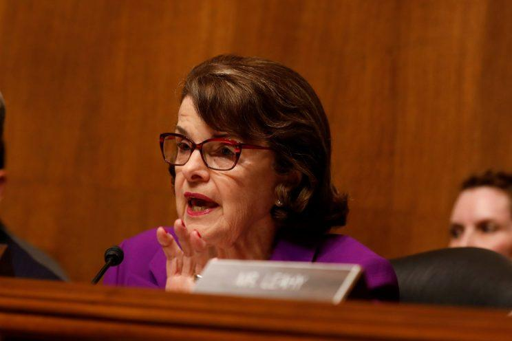 Ranking member Sen. Dianne Feinstein, D-Calif., questions Rod Rosenstein during a hearing before the Senate Judiciary Committee on Capitol Hill. (Photo: Aaron P. Bernstein/Reuters)