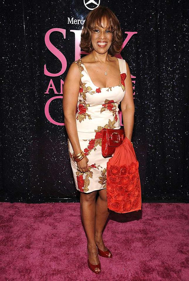 "When your BFF is billionairess Oprah Winfrey, you can have your pick of any custom creation the world has to offer. But apparently Gayle King was to embarrassed to borrow some bucks because this flowery flop looks like the curtains in my grandmother's house. Dimitrios Kambouris/<a href=""http://www.wireimage.com"" target=""new"">WireImage.com</a> - May 27, 2008"