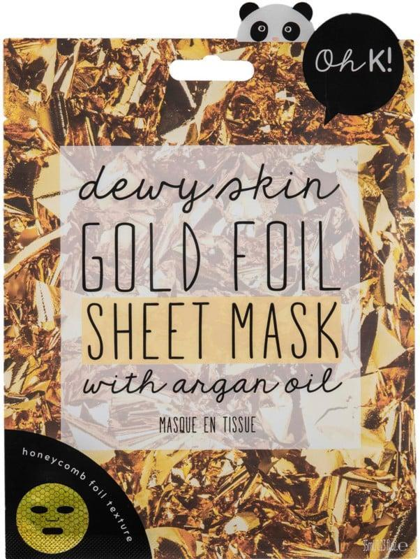<p>The gilded <span>Oh K! Gold Foil Sheet Mask</span> ($5) will make them feel luxurious - for less than the price of a Starbucks latte.</p>