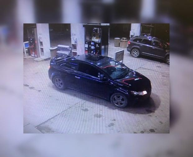 RCMP are searching for a black 2010 two-door Kia Forte with the license plate 808 MHS, linked to a possible abduction. (RCMP/Submitted - image credit)