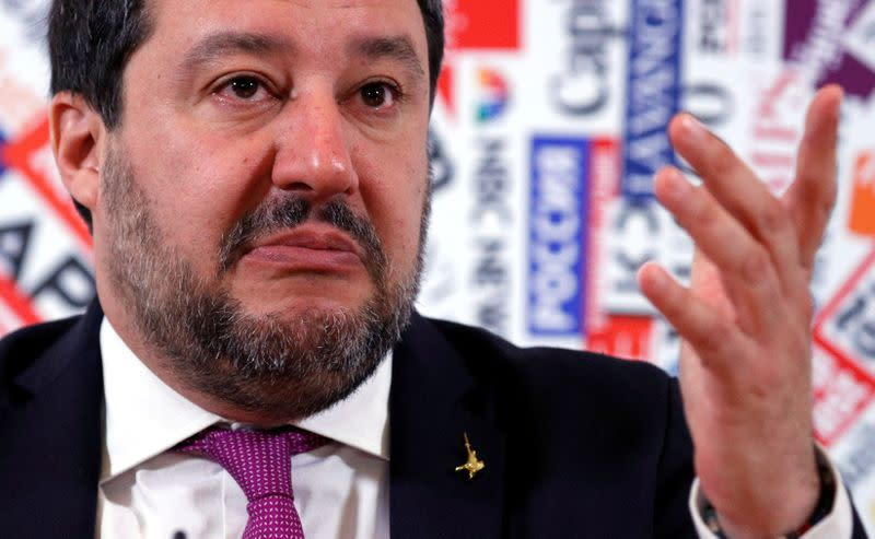 Looking to moderate image, Italy's Salvini says his League party isn't far right