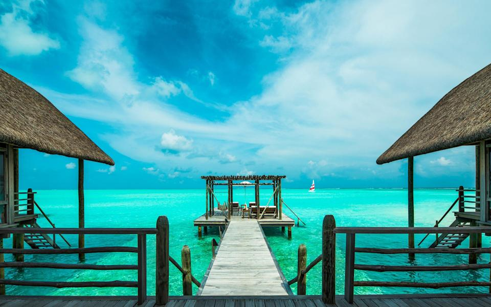 Jetty at COMO Cocoa Island in the Maldives