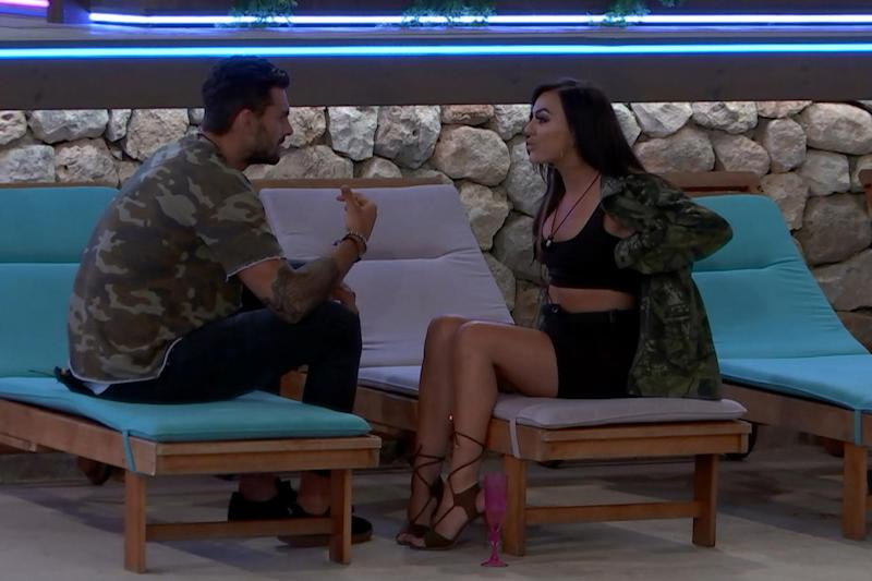 Confronting: Adam smirked his way through Rosie's attempts to call him out on his actions (ITV)