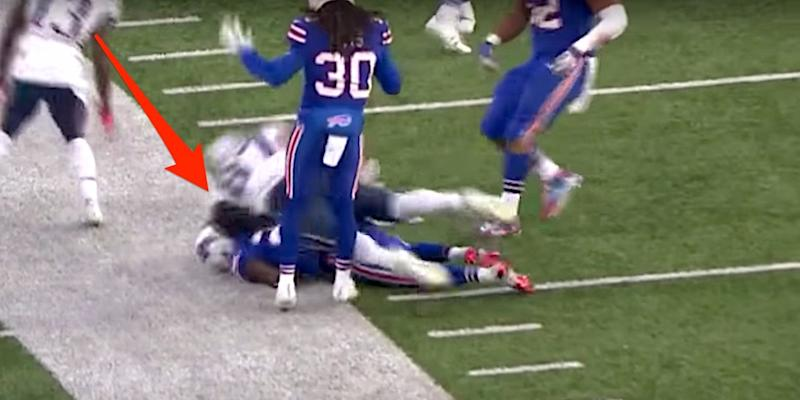 f05c1f701e7 Rob Gronkowski under fire for  dirty  hit that sent a Bills player ...