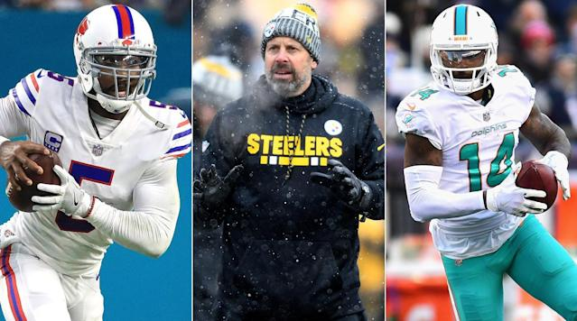 "<p>Over a matter of hours, the Browns traded for a pair of Pro Bowlers at two of the most important offensive positions, bringing in <strong>Tyrod Taylor</strong> from the Bills and <strong>Jarvis Landry</strong> from the Dolphins in exchange for third and fourth-round picks this year and a seventh in 2019. Suddenly, the expectations for Cleveland's offseason have radically changed. Will free agents look at the team differently now as GM <strong>John Dorsey</strong> continues building a roster that fits his philosophy? Does having Taylor in the fold give the front office the flexibility to take <strong>Saquon Barkley </strong>No. 1 overall and go back to QB at No. 4 in the draft? As Landry <a href=""https://twitter.com/God_Son80/status/972222993790271488"" rel=""nofollow noopener"" target=""_blank"" data-ylk=""slk:tweeted"" class=""link rapid-noclick-resp"">tweeted</a>, ""S--- about to get SERIOUS?."" But as important as the combo of moves could turn out to be, for now they accentuate an addition Cleveland made weeks ago—with significantly less profanity laden fanfare.</p><p>See, Taylor and Landry are talented in idiosyncratic ways. Taylor is elite at limiting interceptions (throwing them at the lowest rate in the league last year), but he will also overlook open receivers, and he is at his best in a system that utilizes his running ability. Landry, meanwhile, was third-to-last among qualifying receivers in yards at catch; on average, he got the ball 4.4 yards away from the line of scrimmage. And they join a collection of unique assets already on the Browns roster, like 5'11"" wideout <strong>Corey Coleman</strong> or running back <strong>Duke Johnson</strong>, who had more receiving targets than rushes in 2017.</p><p>When <strong>Todd Haley </strong>took to the podium for the first time as Cleveland's offensive coordinator on Valentine's Day, he said, ""What I believe in is playing to every player's strength that you have as best you can—putting players into position to succeed, playing to their skillset."" It's a bit of coach speak, but it's going to have to become his most important mantra. Haley figured out how to develop and deploy distinctive talents in Pittsburgh while building an explosive offense, but he's going to have to do it completely differently this time around. At the same time, <strong>Hue Jackson</strong>, who has surrendered offensive control and play-calling duties for the first time since coming to Cleveland, will have to figure out how he factors into all of this. The front office seems intent on bringing in pieces, but can the staff get them to fit?</p><p><i>Not getting this newsletter in your inbox yet?</i> <a href=""https://www.si.com/static/newsletter/signup"" rel=""nofollow noopener"" target=""_blank"" data-ylk=""slk:Join The MMQB's Morning Huddle"" class=""link rapid-noclick-resp""><i>Join The MMQB's Morning Huddle</i></a><i>.</i></p><h3><strong>HOT READS</strong></h3><p><b>NOW ON THE MMQB: </b>Just keep Andy Benoit's <a href=""https://www.si.com/nfl-free-agents-rankings-by-position-2018?utm_campaign=mmqb&utm_source=si.com&utm_medium=email"" rel=""nofollow noopener"" target=""_blank"" data-ylk=""slk:free agency tracker"" class=""link rapid-noclick-resp"">free agency tracker</a> open in a tab this week ... Robert Klemko <a href=""https://www.si.com/nfl/2018/03/09/aqib-talib-trade-broncos-rams-crabtree-chain-marcus-peters?utm_campaign=mmqb&utm_source=si.com&utm_medium=email"" rel=""nofollow noopener"" target=""_blank"" data-ylk=""slk:remembers"" class=""link rapid-noclick-resp"">remembers</a> <strong>Aqib </strong><strong>Talib</strong>'s time in Denver ... Michael McCann <a href=""https://www.si.com/nfl/2018/03/09/nfl-combine-inapprorpriate-questions-lawsuit-legal-options"" rel=""nofollow noopener"" target=""_blank"" data-ylk=""slk:considers"" class=""link rapid-noclick-resp"">considers</a> what players and the league can do about inappropriate questioning at the combine ... Peter King has another <a href=""http://si.com/nfl/2018/03/12/richard-sherman-san-francisco-49ers-john-lynch-mmqb-peter-king"" rel=""nofollow noopener"" target=""_blank"" data-ylk=""slk:packed column"" class=""link rapid-noclick-resp"">packed column</a> ahead of free agency ... <a href=""http://www.si.com/nfl"" rel=""nofollow noopener"" target=""_blank"" data-ylk=""slk:and more."" class=""link rapid-noclick-resp"">and more.</a></p><p><b>WHAT YOU MAY HAVE MISSED:</b> Ben Baskin <a href=""https://www.si.com/nfl/2018/03/09/2018-nfl-draft-jaire-alexander-cornerback-louisville?utm_campaign=mmqb&utm_source=si.com&utm_medium=email"" rel=""nofollow noopener"" target=""_blank"" data-ylk=""slk:spoke"" class=""link rapid-noclick-resp"">spoke</a> with rising cornerback <strong>Jaire Alexander </strong>... Jonathan Jones <a href=""https://www.si.com/nfl/2018/03/08/nfl-scouting-combine-2018-mmqb-behind-the-scenes-24-hours?utm_campaign=mmqb&utm_source=si.com&utm_medium=email"" rel=""nofollow noopener"" target=""_blank"" data-ylk=""slk:chronicled"" class=""link rapid-noclick-resp"">chronicled</a> an eventful 24 hours at the NFL Combine ... <a href=""https://www.si.com/nfl"" rel=""nofollow noopener"" target=""_blank"" data-ylk=""slk:and more"" class=""link rapid-noclick-resp"">and more</a>.</p><h3><b>PRESS COVERAGE</b></h3><p><strong>1. Richard Sherman </strong>is now a San Francisco 49er, and Eric Branch has <a href=""https://www.sfchronicle.com/49ers/article/Report-Ex-Seahawks-CB-Richard-Sherman-visiting-12743216.php"" rel=""nofollow noopener"" target=""_blank"" data-ylk=""slk:the details"" class=""link rapid-noclick-resp"">the details</a> on what could end up being a nearly $40 million deal (Mike Florio has <a href=""http://profootballtalk.nbcsports.com/2018/03/11/the-real-richard-sherman-numbers/"" rel=""nofollow noopener"" target=""_blank"" data-ylk=""slk:a financial breakdown"" class=""link rapid-noclick-resp"">a financial breakdown</a>, if you are into that type of thing). The 49ers desperately needed help at corner, and Sherman now joins linebacker <strong>Malcolm Smith </strong>as former Seahawks working to build a new San Francisco juggernaut after battling with the last one. Peter King spoke to both Sherman and 49ers GM <strong>John Lynch</strong> in <a href=""http://si.com/nfl/2018/03/12/richard-sherman-san-francisco-49ers-john-lynch-mmqb-peter-king"" rel=""nofollow noopener"" target=""_blank"" data-ylk=""slk:his column"" class=""link rapid-noclick-resp"">his column</a>.</p><p><b>2</b>. Somewhat lost in the Browns-focused swirl, Panthers GM <strong>Marty Hurney</strong> continued his aggressive offseason, <a href=""http://www.charlotteobserver.com/sports/nfl/carolina-panthers/article204345969.html"" rel=""nofollow noopener"" target=""_blank"" data-ylk=""slk:trading"" class=""link rapid-noclick-resp"">trading</a> third-year corner <strong>Daryl Worley</strong> to Philadelphia for <strong>Torrey Smith</strong> in the hopes of providing <strong>Cam Newton</strong> with a big play receiver.</p><p><b>3.</b> Three more veteran defenders could be hitting the free agency heap, as the Giants <a href=""https://www.chron.com/sports/texans/article/Giants-release-CB-Dominique-Rodgers-Cromartie-12744764.php"" rel=""nofollow noopener"" target=""_blank"" data-ylk=""slk:moved on"" class=""link rapid-noclick-resp"">moved on</a> from <strong>Dominique Rodgers-Cromartie</strong>, the Bengals <a href=""https://www.cincinnati.com/story/sports/nfl/bengals/2018/03/09/bengals-decline-option-adam-jones/411561002/"" rel=""nofollow noopener"" target=""_blank"" data-ylk=""slk:parted ways"" class=""link rapid-noclick-resp"">parted ways</a> with <strong>Adam Jones</strong>, and the Steelers reportedly <a href=""http://www.post-gazette.com/sports/steelers/2018/03/09/mike-mitchell-release-steelers-salary-cap/stories/201803090161"" rel=""nofollow noopener"" target=""_blank"" data-ylk=""slk:planned to cut"" class=""link rapid-noclick-resp"">planned to cut</a> <strong>Mike Mitchell</strong>. </p><p><strong>4. </strong>The next big name to keep an eye on: <strong><a href=""http://bleacherreport.com/articles/2763392-tyrann-mathieu-reportedly-expected-to-be-cut-after-cardinals-ask-s-for-pay-cut?utm_source=twitter.com&utm_medium=referral&utm_campaign=programming-national"" rel=""nofollow noopener"" target=""_blank"" data-ylk=""slk:Tyrann Mathieu"" class=""link rapid-noclick-resp"">Tyrann Mathieu</a>.</strong></p><p><b>5. </b>Enough about the Browns, what do their deals <a href=""http://www.espn.com/blog/nflnation/post/_/id/270783"" rel=""nofollow noopener"" target=""_blank"" data-ylk=""slk:mean for the rest"" class=""link rapid-noclick-resp"">mean for the rest</a> of the QB market?</p><p><b>6. Sean McDonough </b><a href=""https://twitter.com/richarddeitsch/status/972264953313816576"" rel=""nofollow noopener"" target=""_blank"" data-ylk=""slk:won't"" class=""link rapid-noclick-resp"">won't</a> be calling Monday Night Football this season, leaving ESPN with two chairs to fill.</p><p><strong>7. </strong>Stoneman Douglas High School's quarterback was meeting with college recruiters when <a href=""https://www.washingtonpost.com/news/early-lead/wp/2018/03/09/stoneman-douglas-qb-hid-with-recruiters-as-shots-flew-then-committed-to-their-school/?utm_term=.778975345c48"" rel=""nofollow noopener"" target=""_blank"" data-ylk=""slk:gunshots rang out"" class=""link rapid-noclick-resp"">gunshots rang out</a>. He committed that evening.</p><p><b><i>Have a story you think we should include in tomorrow's Press Coverage?</i></b> <span><i>Let us know here.</i></span></p><h3><b>THE KICKER</b></h3><p>Is <strong>Reggie Wayne</strong> <a href=""https://www.indystar.com/story/sports/nfl/colts/2018/03/09/browns-deshone-kizer-trade-reported-former-colts-wr-reggie-wayne/412630002/"" rel=""nofollow noopener"" target=""_blank"" data-ylk=""slk:edging into"" class=""link rapid-noclick-resp"">edging into</a> <strong>Adam </strong><strong>Schefter</strong>'s turf?</p><p><i>Question? Comment? Story idea?</i><i> Let the team know at </i><i><span>talkback@themmqb.com</span></i></p>"