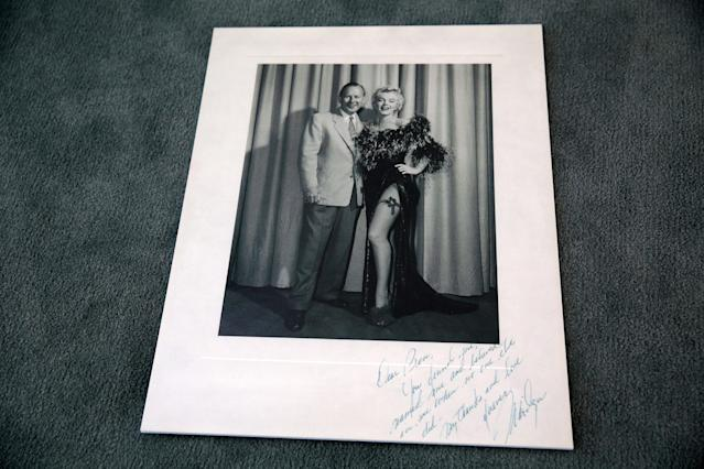 Marilyn Monroe's inscription on this photo to Ben Lyon confirms that he came up with her famous moniker. (Photo: Brian To for the Paley Center for Media)