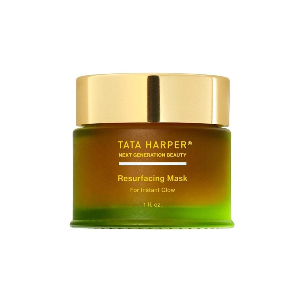 """Talk about a glow-up! This <a href=""""https://shop-links.co/1720900516119508294"""" rel=""""nofollow noopener"""" target=""""_blank"""" data-ylk=""""slk:Resurfacing Mask from Tata Harper"""" class=""""link rapid-noclick-resp"""">Resurfacing Mask from Tata Harper</a> has a dewy reputation for a reason. No more dull, tired, uneven skin texture as you swipe this buttery mask across your skin. Think of it as a 20-minute facial treatment in the comfort of your own home. Or opt for a quick """"instant glow,"""" as Harper calls it, by layering the <a href=""""https://shop-links.co/1720997222974541146"""" rel=""""nofollow noopener"""" target=""""_blank"""" data-ylk=""""slk:Regenerating Cleanser"""" class=""""link rapid-noclick-resp"""">Regenerating Cleanser</a> with this mask for glowing skin in five minutes. $65, Tata Harper. <a href=""""https://shop-links.co/1720900516119508294"""" rel=""""nofollow noopener"""" target=""""_blank"""" data-ylk=""""slk:Get it now!"""" class=""""link rapid-noclick-resp"""">Get it now!</a>"""