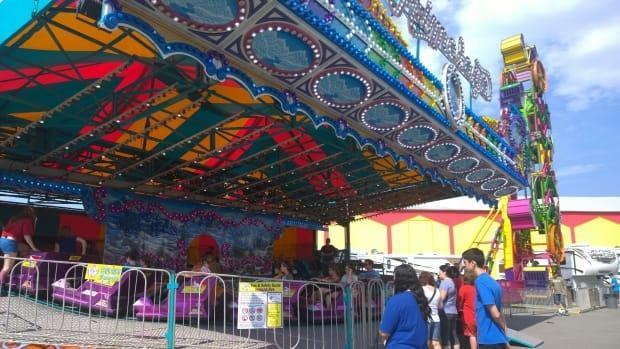 Rides are a popular attraction at the New Brunswick Provincial Exhibition. (Shane Fowler/CBC - image credit)