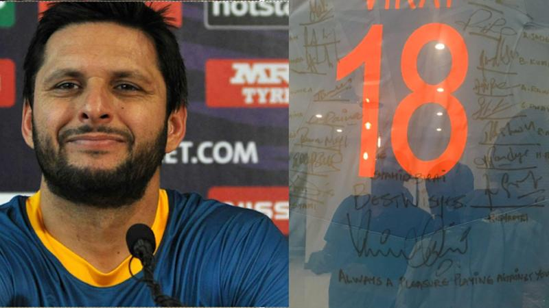 Team India Gifts Signed Virat Kohli Jersey to Afridi on Retirement