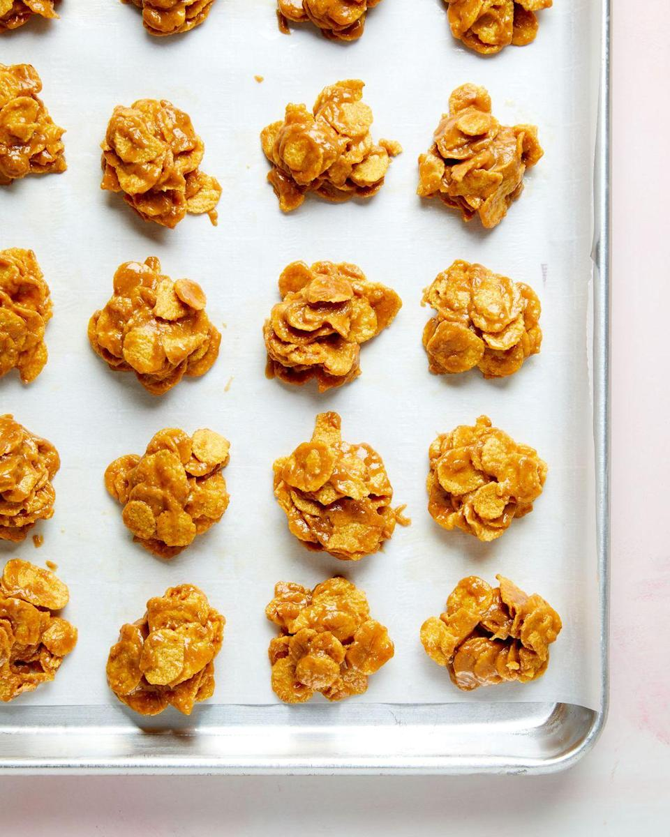 """<p>Welcome to the holidays, where cornflakes become cookies. </p><p>Get the recipe from <a href=""""https://www.delish.com/cooking/recipe-ideas/a34428446/cornflake-cookies-recipe/"""" rel=""""nofollow noopener"""" target=""""_blank"""" data-ylk=""""slk:Delish"""" class=""""link rapid-noclick-resp"""">Delish</a>.</p>"""