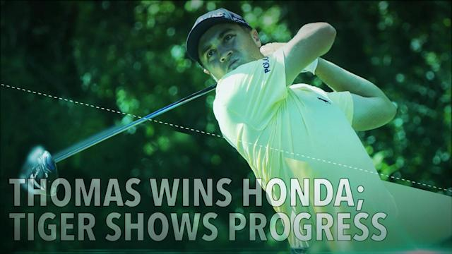 Justin Thomas captured his eighth PGA Tour victory at the Honda Classic by beating Luke List in a playoff. Tiger Woods finished in 12th.