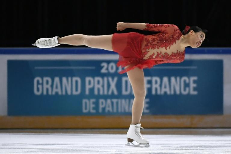 Japanese former world champion figure skater Mao Asada says she is leaving the sport with 'no regrets', shown here performing at the ISU Grand Prix in Paris on November 12, 2016
