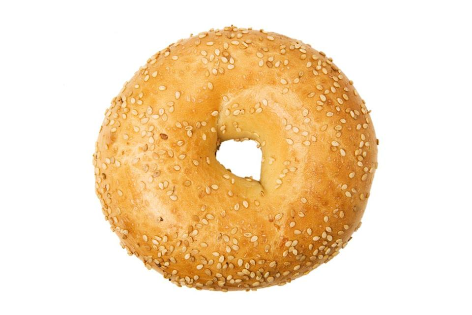 <p>The size of a bagel has nearly doubled over the past few decades. Bagels can average anywhere from 250 to 400 calories (that's before the spreads and toppings). Most bagels pack in at least 60 grams of carbs from white refined carbohydrates too.</p>
