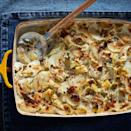 <p>This gratin dish has all of the craveable flavors of artichoke dip in a more sophisticated form. It makes a terrific side with any roasted meats or poultry.</p>