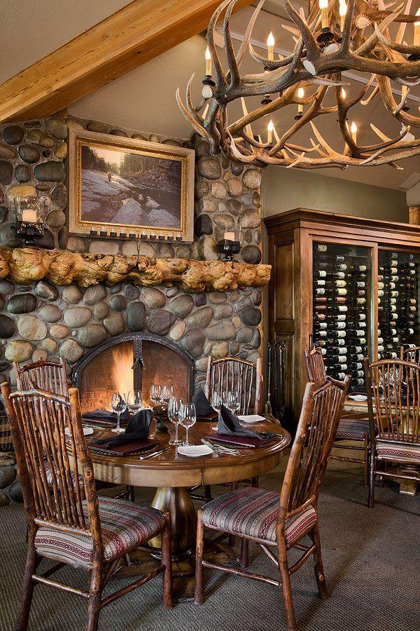 """<p><strong>Jackson Hole, Wyoming</strong></p><p>Even when the temperatures drop at this mountain resort, you can head to <a href=""""https://www.rustyparrot.com/dining/dinner-wine/"""" rel=""""nofollow noopener"""" target=""""_blank"""" data-ylk=""""slk:Wild Sage"""" class=""""link rapid-noclick-resp""""><strong>Wild Sage</strong></a> to warm yourself up. With a river-rock fireplace and full view of the exhibition-style kitchen, you'll have dinner <em>and</em> a show. The intimate setting complements the carefully selected menu, featuring a small variety of starters, entrées and desserts. </p>"""