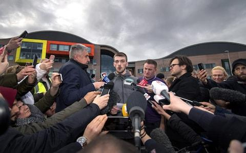 Tom Evans, father of Alfie Evans, speaks to the media outside Alder Hey Children's Hospital on April 26, 2018 in Liverpool - Credit: Anthony Devlin/Getty