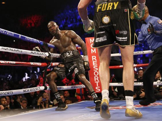 Wilder is knocked back (Getty)