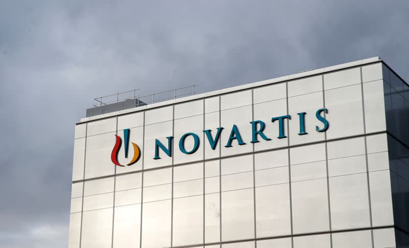 FILE PHOTO: Logo is seen at new factory of Novartis in Stein