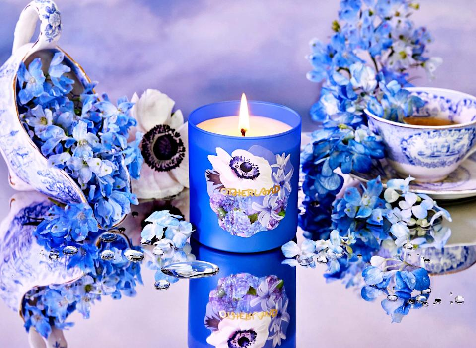 "<h2>Out Of The Blue</h2><br><strong>The Inspiration:</strong> ""We thought about the different color story of each scent. This one is what I'd imagine a Monet ""Water Lilies"" painting would smell like: Beautiful, aquatic flower notes, with some vanilla sweetness in there as well.""<br><br><strong>Scent Profile:</strong> Blue Hydrangea, Sheer Hyacinth, Water Lily<br><br><strong>Otherland</strong> Out Of The Blue, $, available at <a href=""https://go.skimresources.com/?id=30283X879131&url=https%3A%2F%2Fwww.otherland.com%2Fproducts%2Fgarden-party%3Fvariant%3D33175677730925"" rel=""nofollow noopener"" target=""_blank"" data-ylk=""slk:Otherland"" class=""link rapid-noclick-resp"">Otherland</a>"