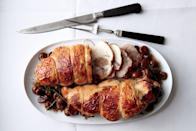 """French <em>boudin blanc</em>—not to be confused with Cajun <em>boudin blanc</em>—is a dairy-infused pork sausage. Used as a stuffing, it infuses lean cuts like turkey breast with richness and perfumes the meat with warm spices. <a href=""""https://www.epicurious.com/recipes/food/views/boudin-blanc-stuffed-turkey-breasts-with-chestnuts-51205440?mbid=synd_yahoo_rss"""" rel=""""nofollow noopener"""" target=""""_blank"""" data-ylk=""""slk:See recipe."""" class=""""link rapid-noclick-resp"""">See recipe.</a>"""