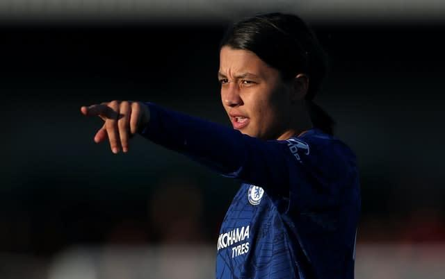 Chelsea's Sam Kerr is backing the Australia-New Zealand bid (Bradley Collyer/PA)