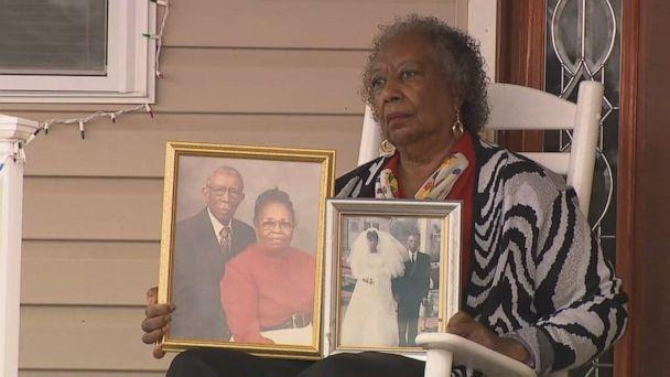 PHOTO: Lillie Tyson Head pictured with family photos. (ABC)