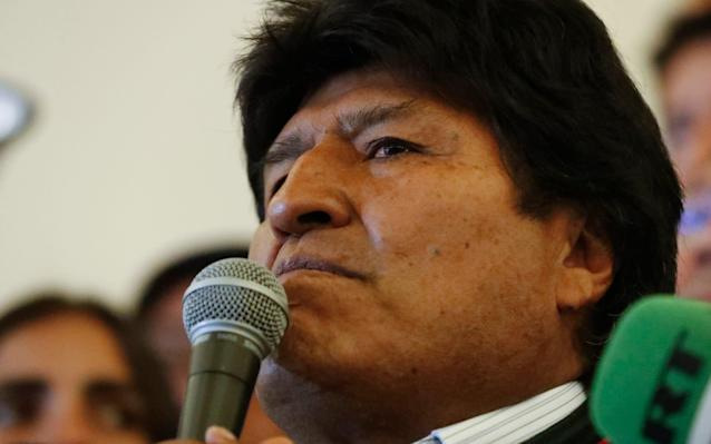 Mr Morales has defied Bolivia's constitution and the results of a referendum to continue to run for the presidency despite a two-term limit - AP