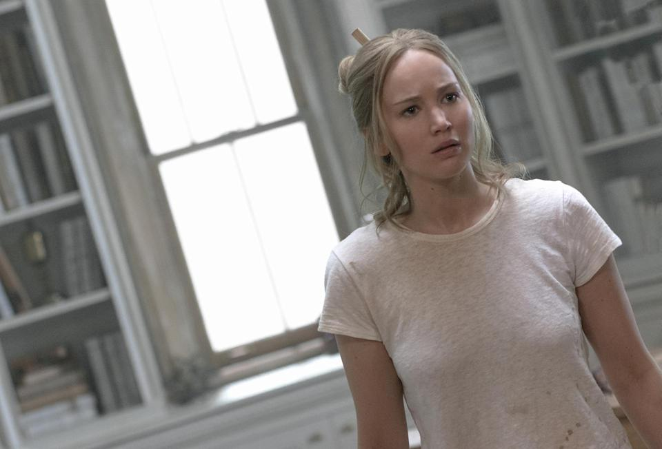 Jennifer Lawrence in mother!, from Paramount Pictures and Protozoa Pictures.