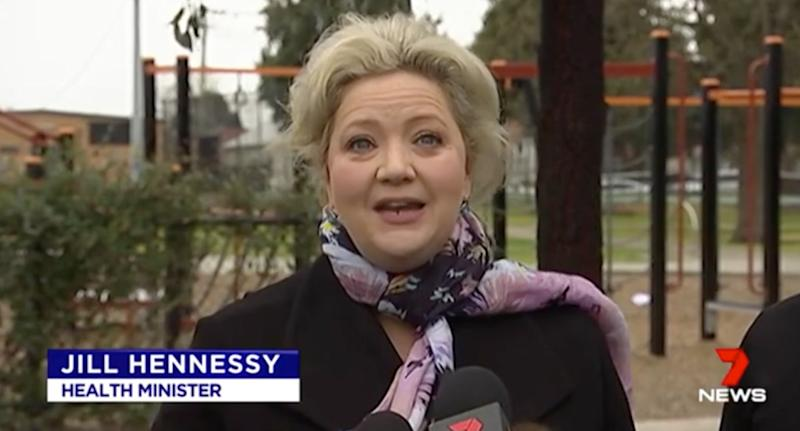 Victorian Health Minister Jill Hennessy (pictured)