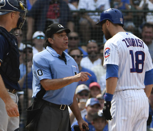 Ben Zobrist was ejected for making electronic umpire crack