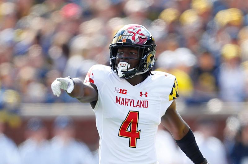 Maryland defensive back Darnell Savage Jr. plays against Michigan in the first half of an NCAA college football game in Ann Arbor, Mich., Saturday, Oct. 6, 2018. (AP Photo/Paul Sancya)