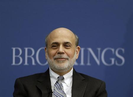 Outgoing U.S. Federal Reserve Board Chairman Ben Bernanke participates in a discussion at the Brookings Institution in Washington January 16, 2014. REUTERS/Gary Cameron