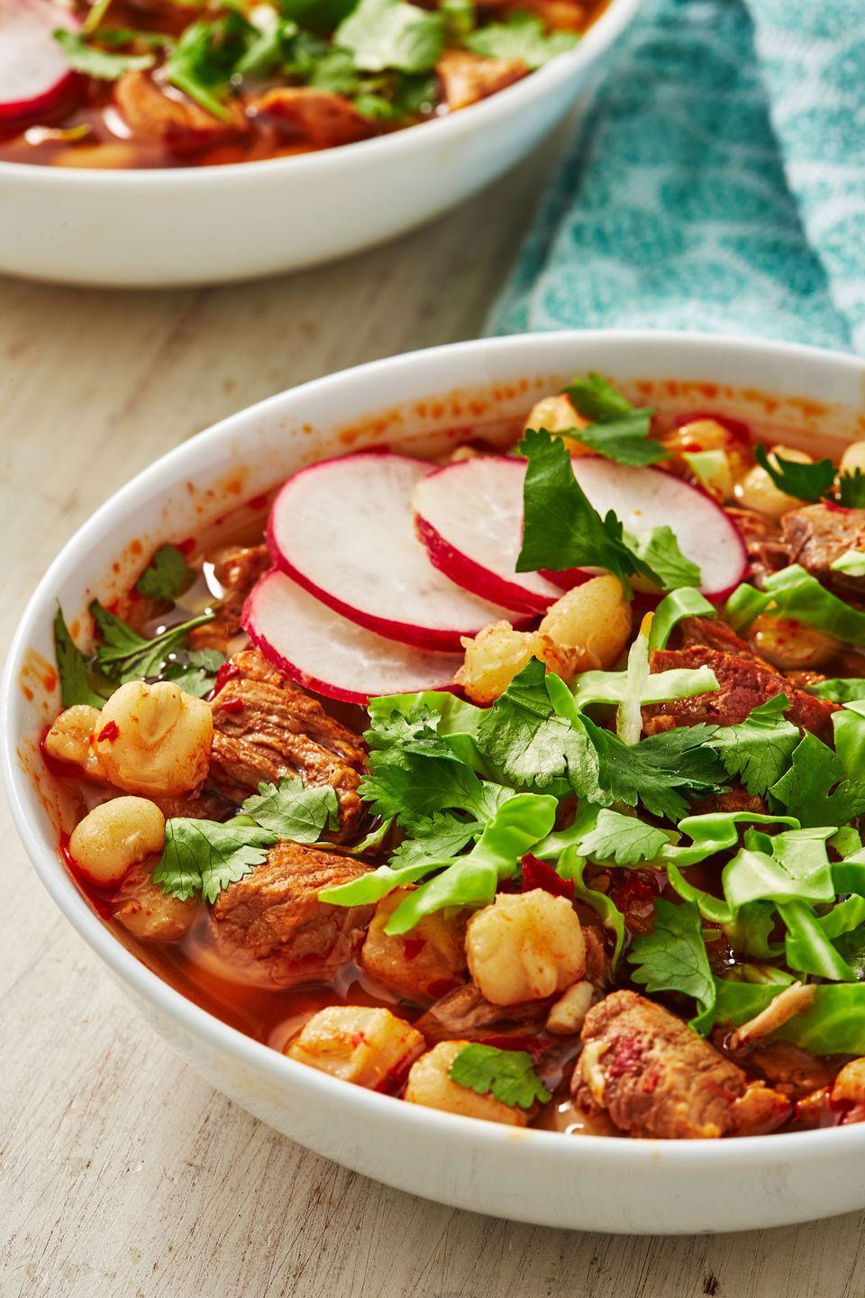 "<p>This beauty will warm you up ASAP.</p><p>Get the recipe from <a href=""https://www.delish.com/cooking/recipe-ideas/a30875851/pozole-recipe/"" rel=""nofollow noopener"" target=""_blank"" data-ylk=""slk:Delish."" class=""link rapid-noclick-resp"">Delish.</a></p>"