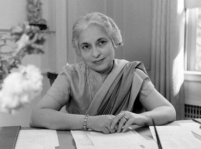 India's ambassador to United States, Vijaya Lakshmi Pandit, United States, 23rd May 1949 (Photo by Nina Leen/The LIFE Picture Collection via Getty Images)