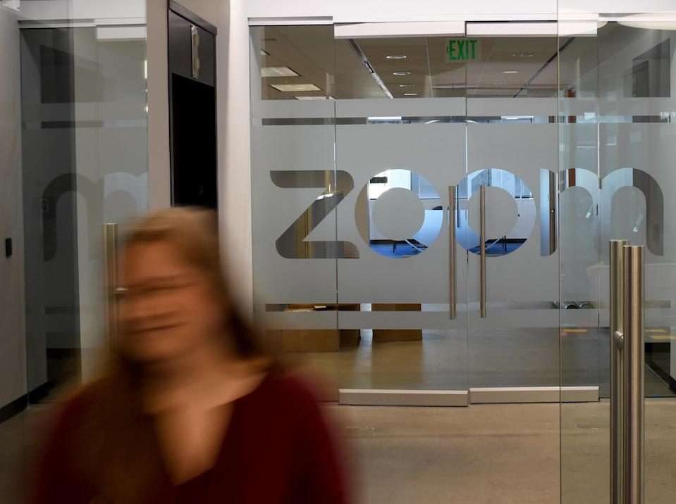 DENVER, CO - FEBRUARY 27: Erica Gray, talent acquisition manager at Zoom Video Communications, walks through the front door of the Zoom office on February 27, 2018 in Denver, Colorado. (Photo by RJ Sangosti/The Denver Post via Getty Images)