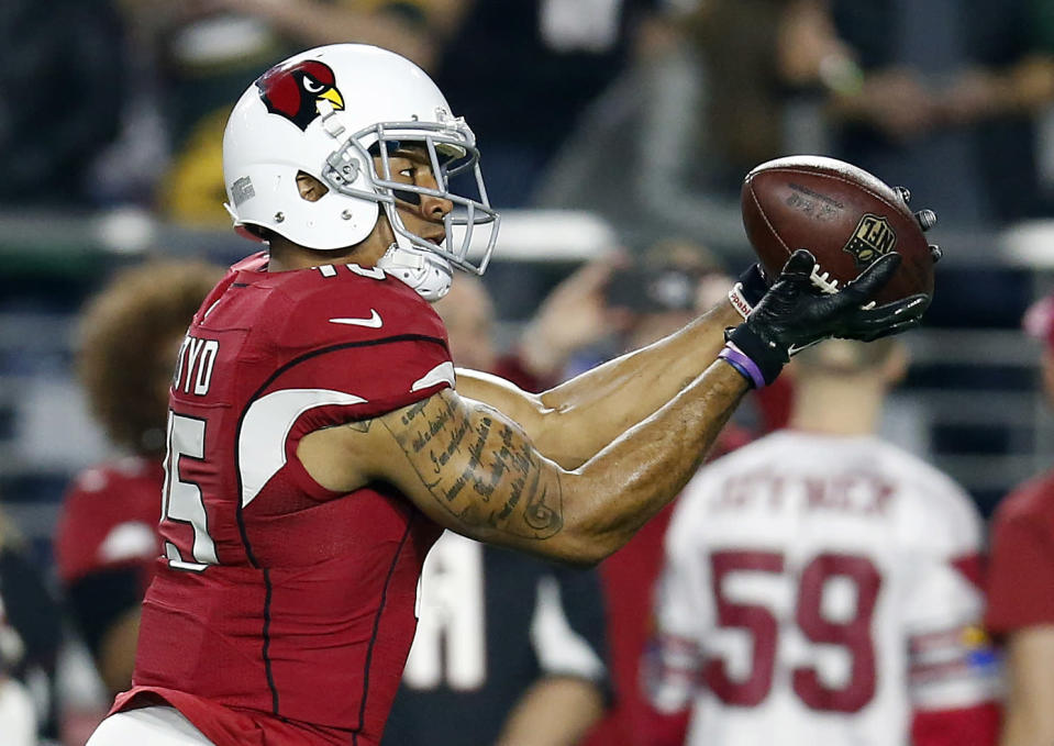 Michael Floyd has WR 1 upside according to Andy Behrens.